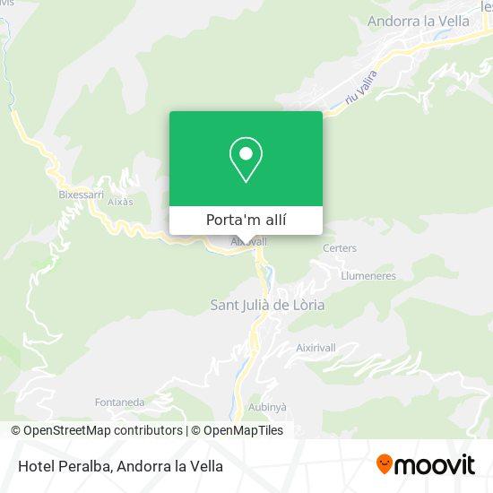 mapa Hotel Peralba