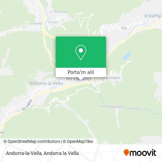 mapa Andorra-la-Vella