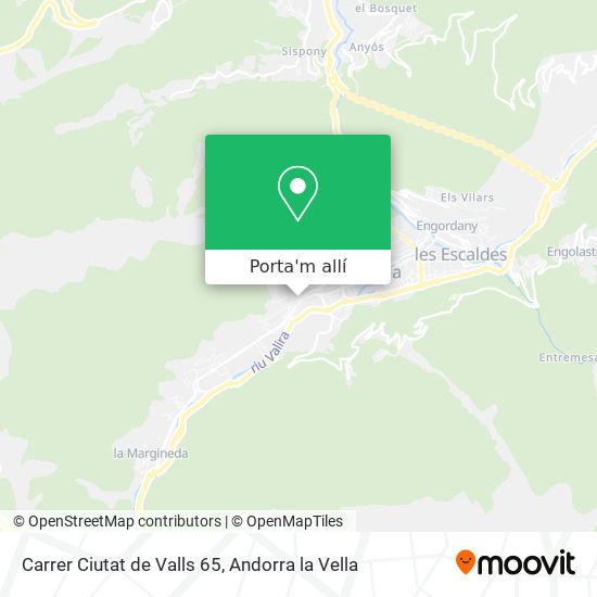 mapa Carrer Ciutat de Valls 65