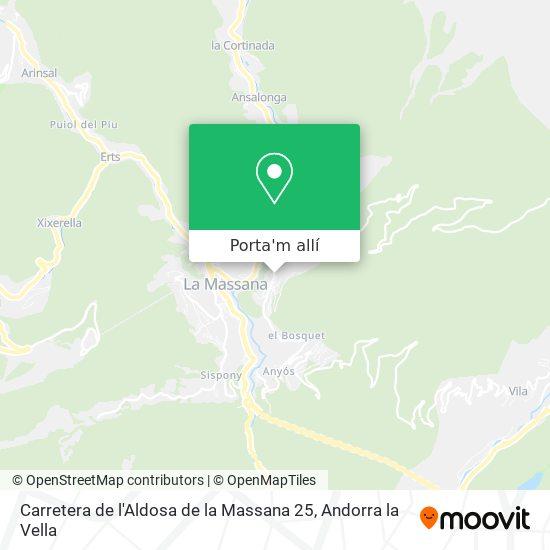 mapa Carretera de l'Aldosa de la Massana 25