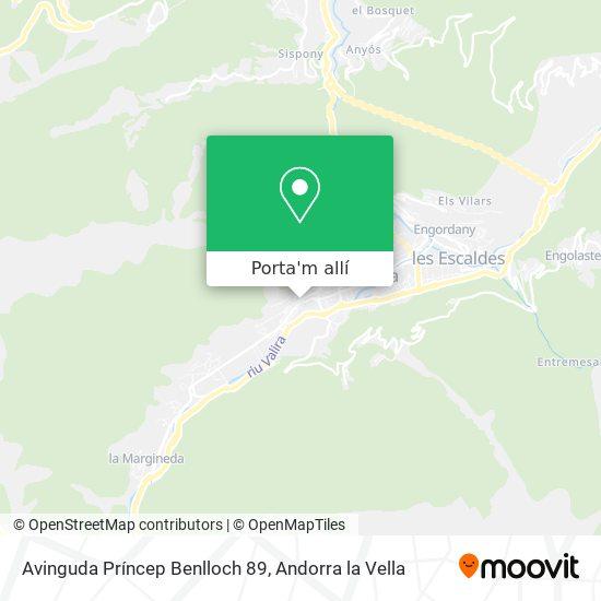 mapa Avinguda Príncep Benlloch 89