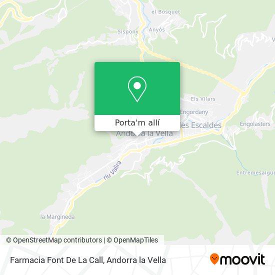 mapa Farmacia Font De La Call