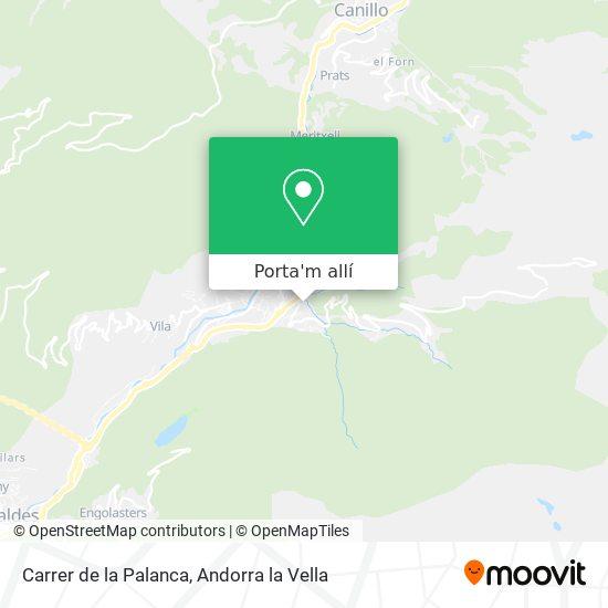 mapa Carrer de la Palanca