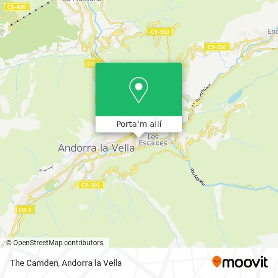 mapa The Camden