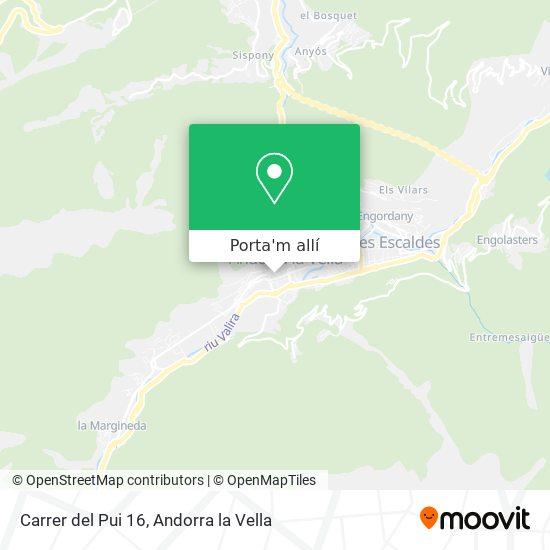 mapa Carrer del Pui 16