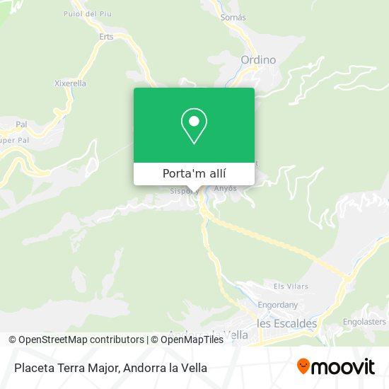 mapa Placeta Terra Major