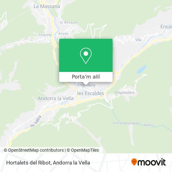 mapa Hortalets del Ribot