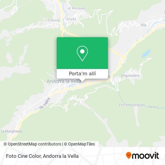 mapa Foto Cine Color