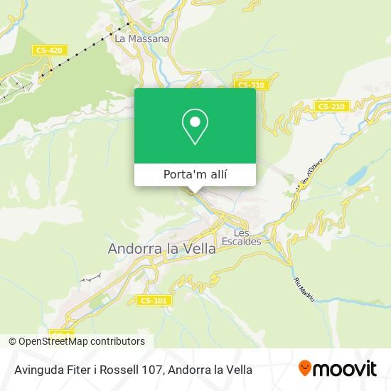 mapa Avinguda Fiter i Rossell 107