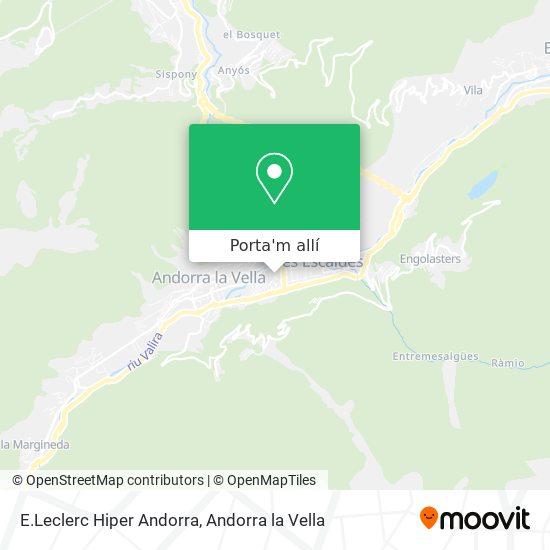 mapa E.Leclerc Hiper Andorra