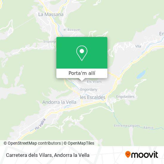 mapa Carretera dels Vilars