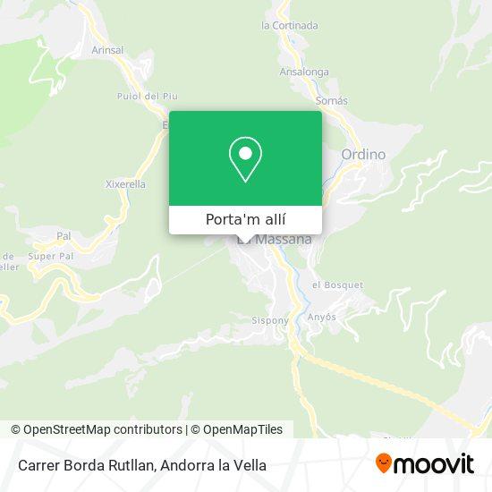 mapa Carrer Borda Rutllan