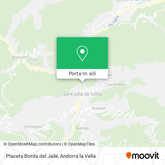 mapa Placeta Borda del Jaile