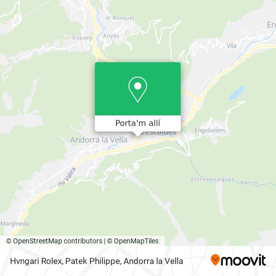 mapa Hvngari Rolex, Patek Philippe