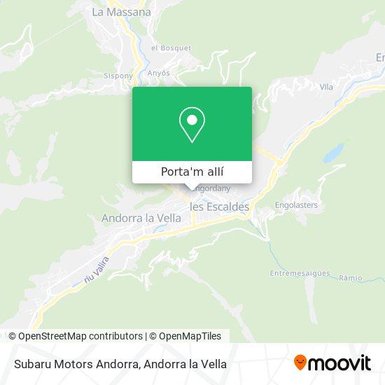 mapa Subaru Motors Andorra