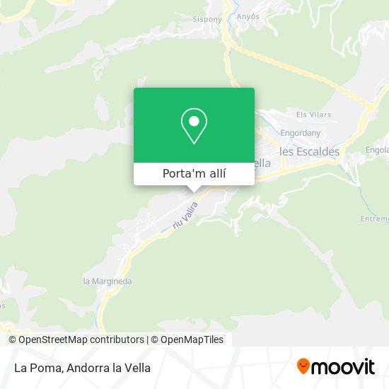 mapa La Poma