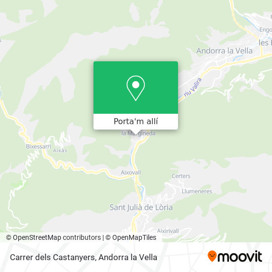 mapa Carrer dels Castanyers