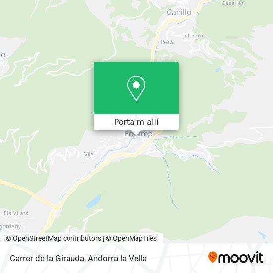 mapa Carrer de la Girauda