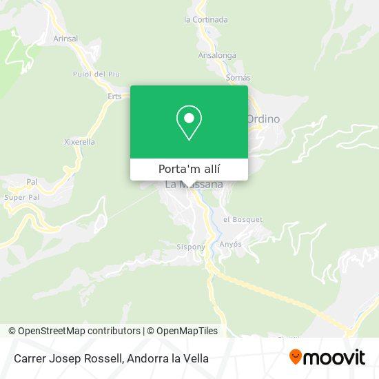 mapa Carrer Josep Rossell