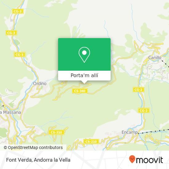 mapa Font Verda