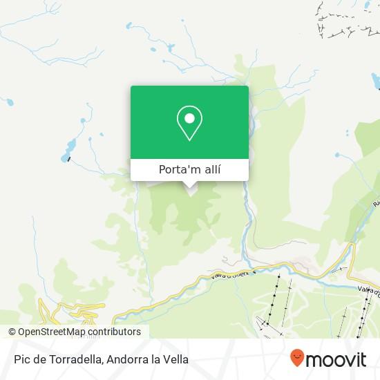 mapa Pic de Torradella
