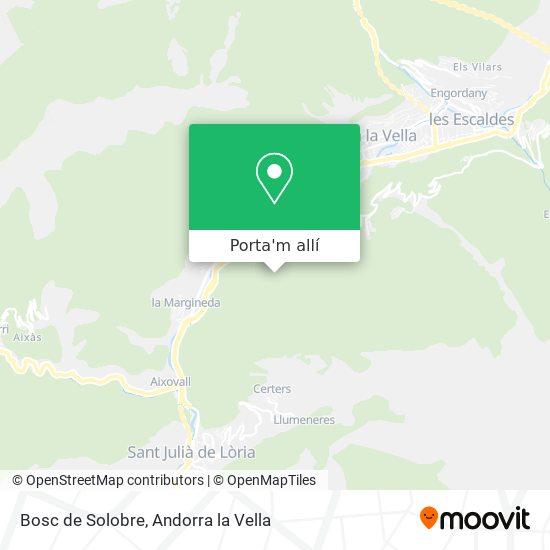 mapa Bosc de Solobre