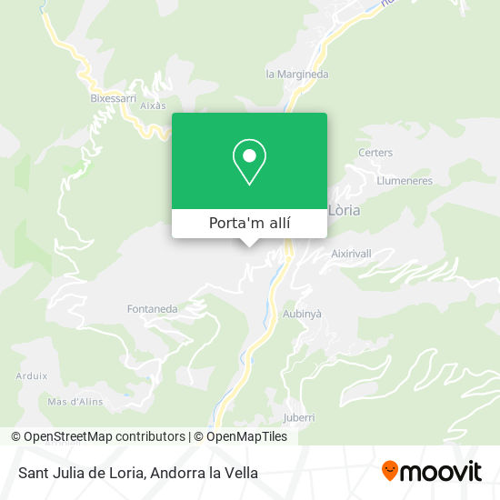 mapa Sant Julia de Loria