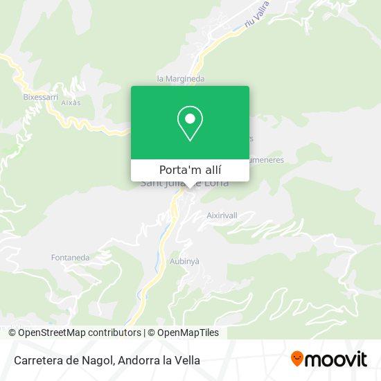 mapa Carretera de Nagol