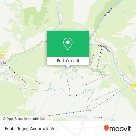 mapa Fonts Roges