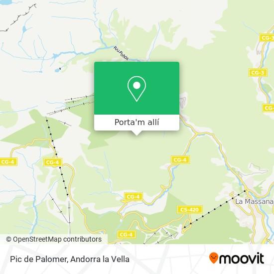 mapa Pic de Palomer