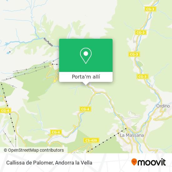 mapa Callissa de Palomer