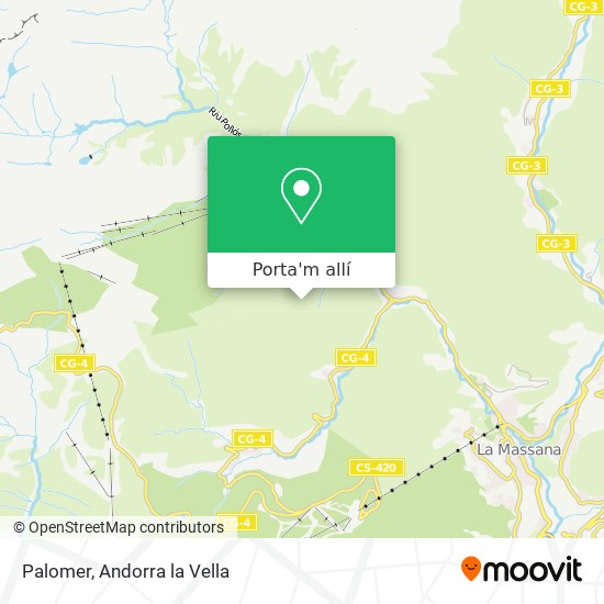 mapa Palomer