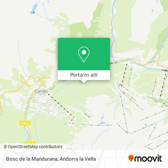 mapa Bosc de la Mandurana