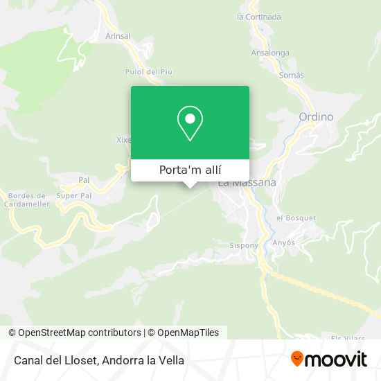 mapa Canal del Lloset