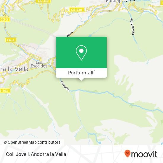 mapa Coll Jovell