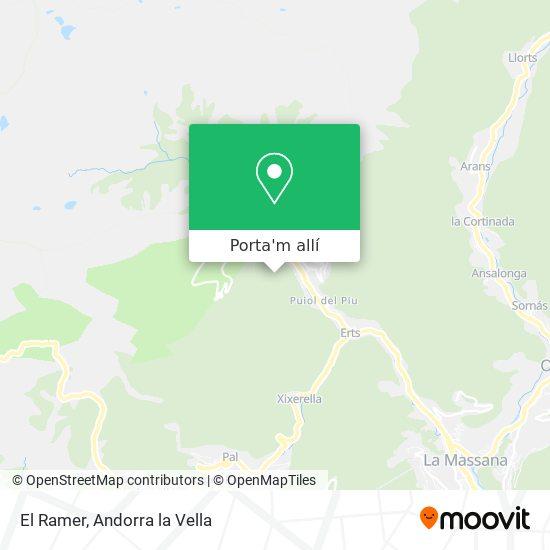 mapa El Ramer