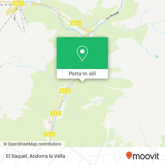 mapa El Saquet