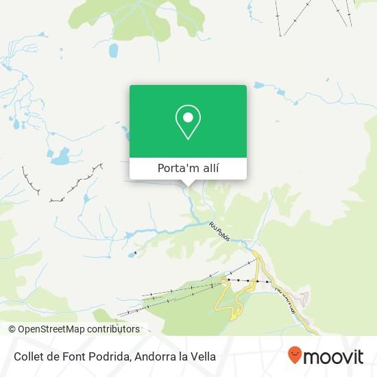 mapa Collet de Font Podrida