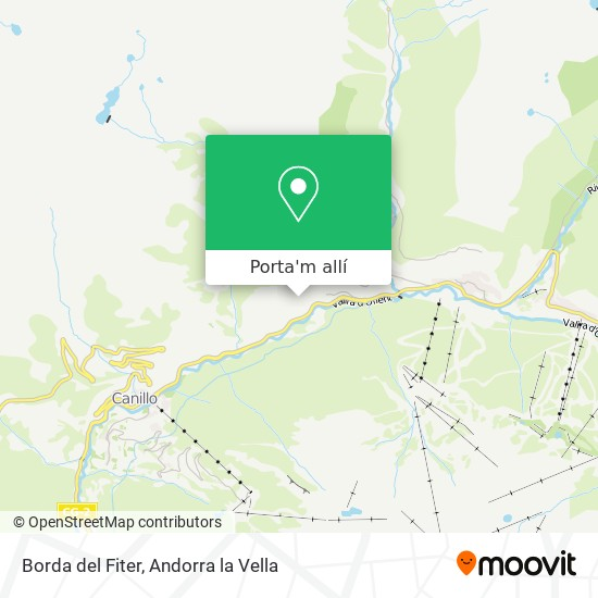mapa Borda del Fiter