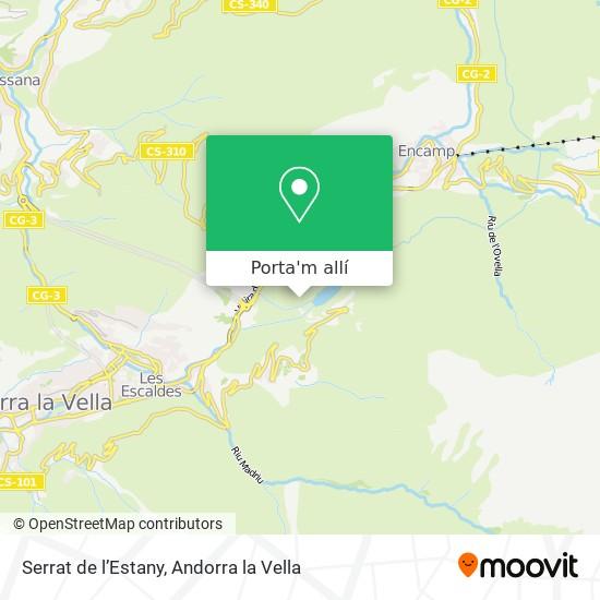 mapa Serrat de l'Estany