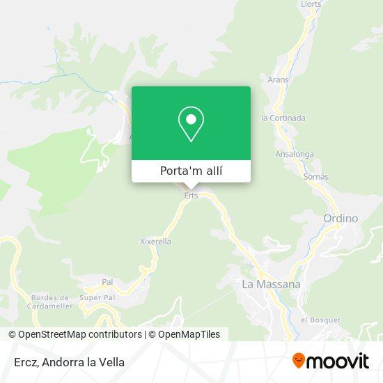 mapa Ercz