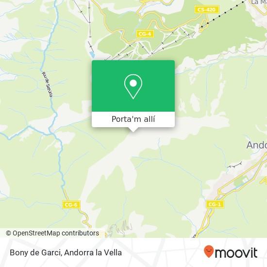 mapa Bony de Garci
