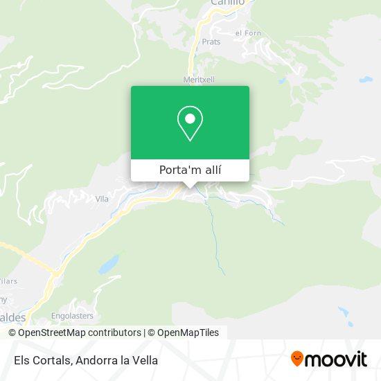 mapa Els Cortals
