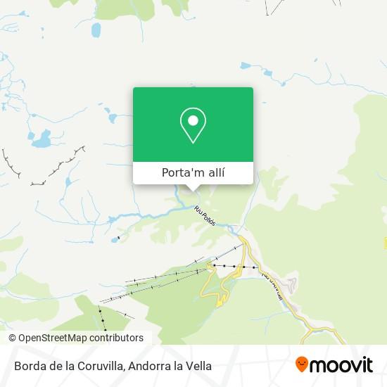 mapa Borda de la Coruvilla