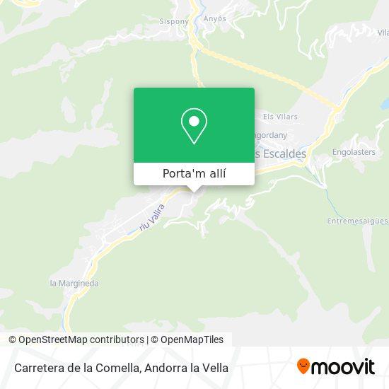 mapa Carretera de la Comella
