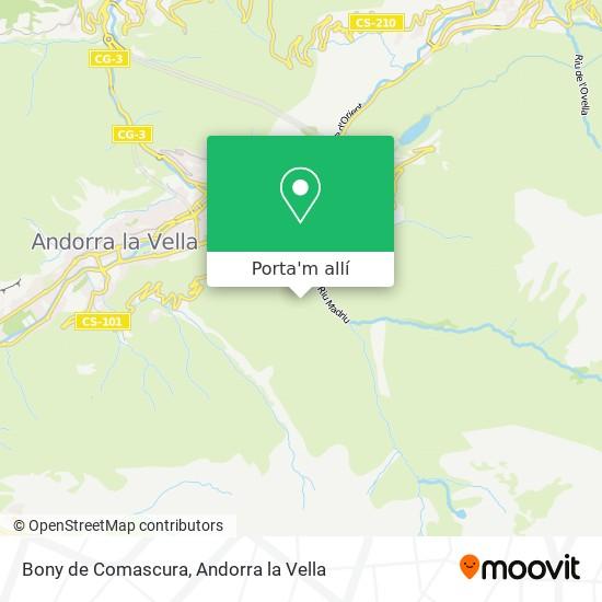 mapa Bony de Comascura