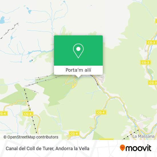 mapa Canal del Coll de Turer
