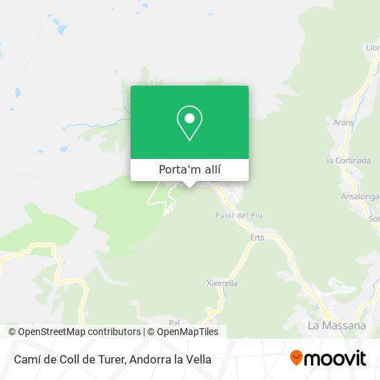 mapa Camí de Coll de Turer