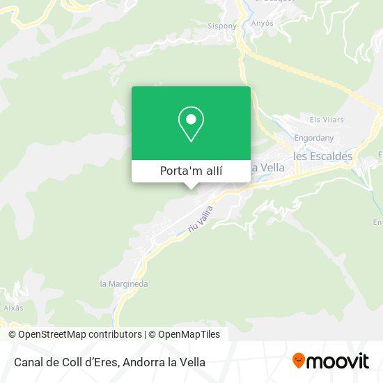 mapa Canal de Coll d'Eres