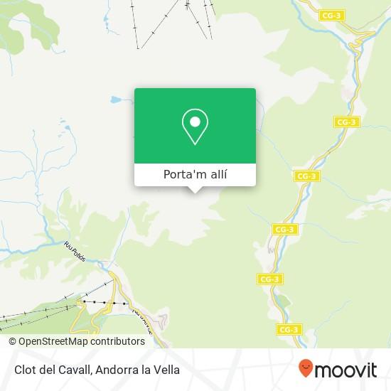 mapa Clot del Cavall
